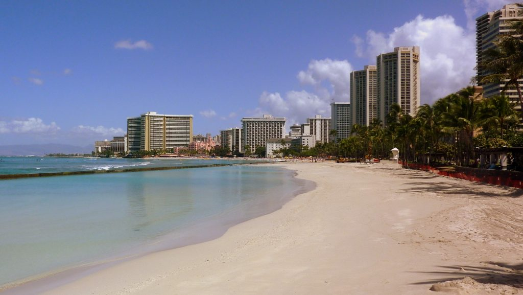 One of the Hawaii fun facts about Waikiki Beach is that much of its sand came from California.
