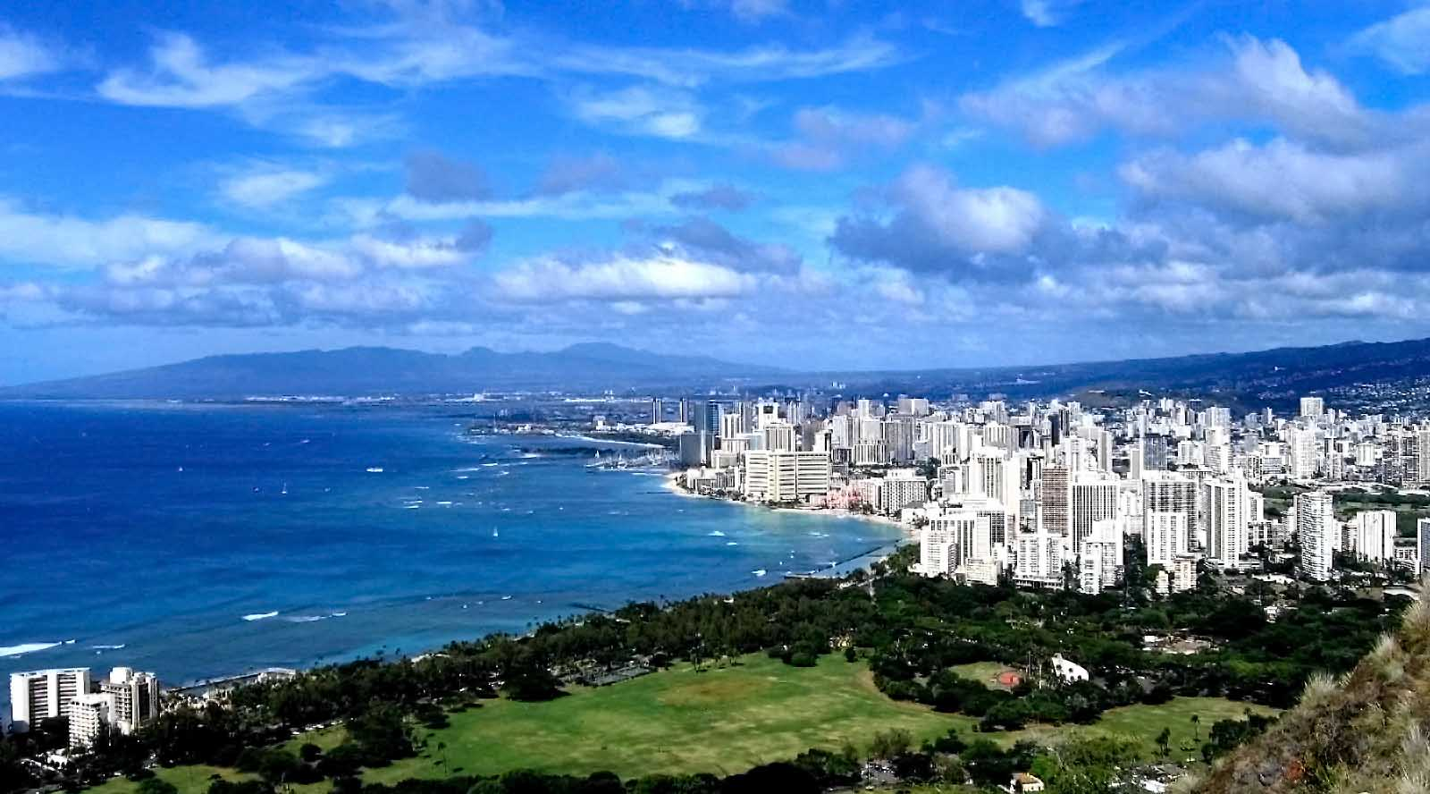View of Wakikiki from Diamond Head